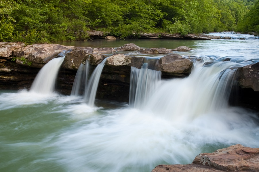 Kings River Falls, one of the best waterfalls near Eureka Springs, Arkansas