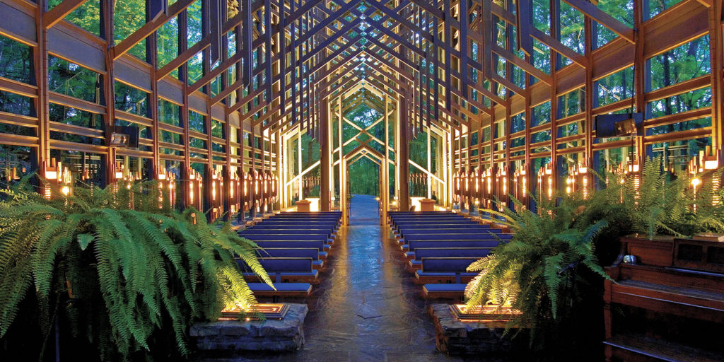 The Thorncrown Chapel is one of our top 5 Eureka Springs Attractions to see this summer!