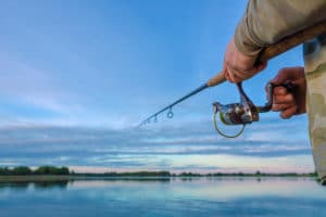 Bass Fishing on Table Rock Lake Near Eureka Springs, Arkansas